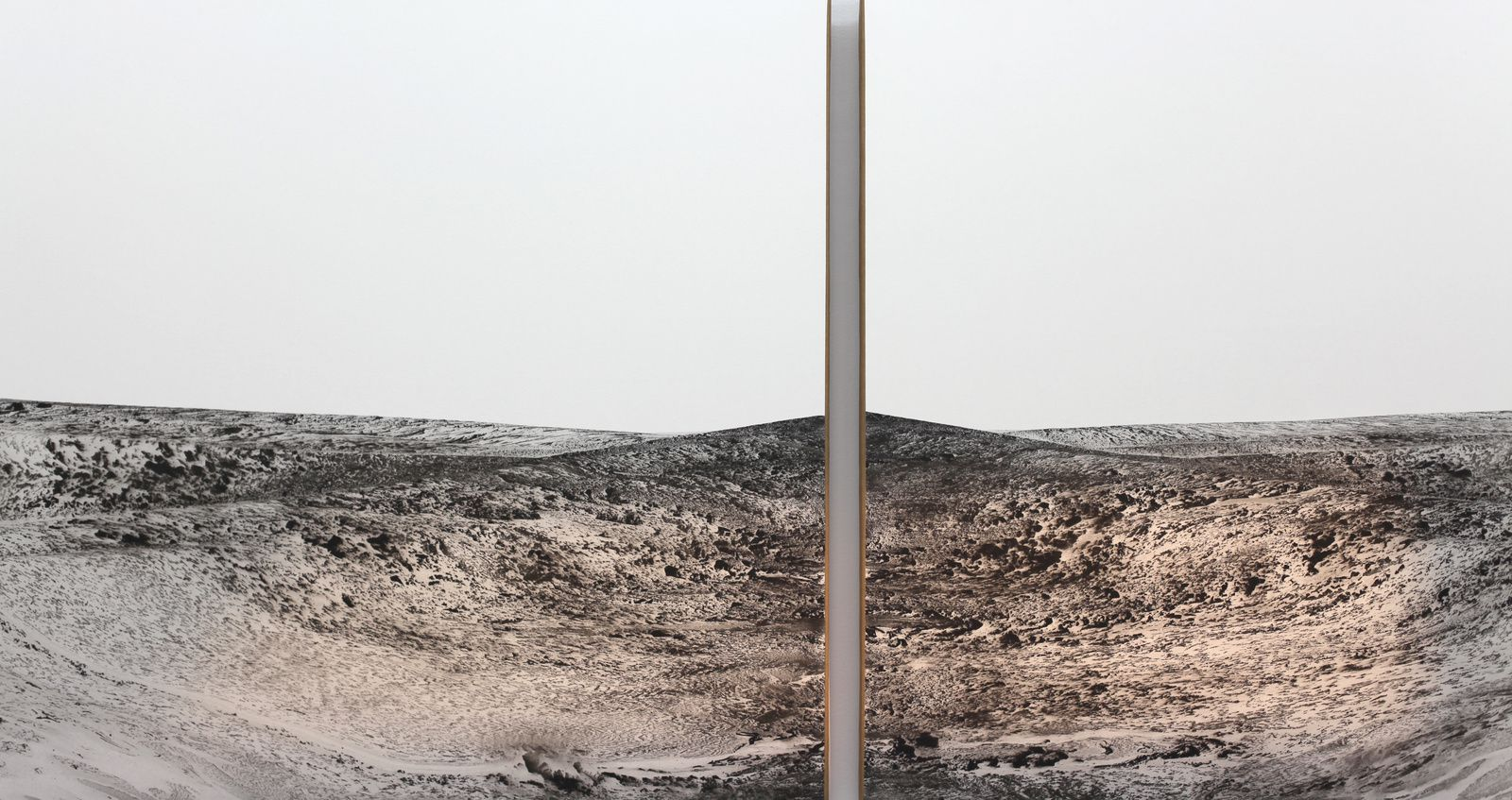 """Imagined landscapes"", 2004-2014 de Aharon Gluska - Courtesy Galerie Lazarew © Photo Éric Simon"