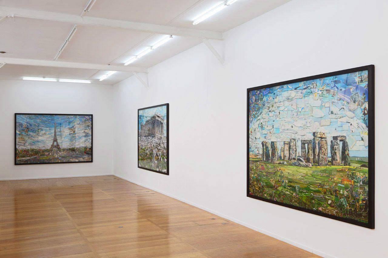 Vue de l'exposition Vik Muniz