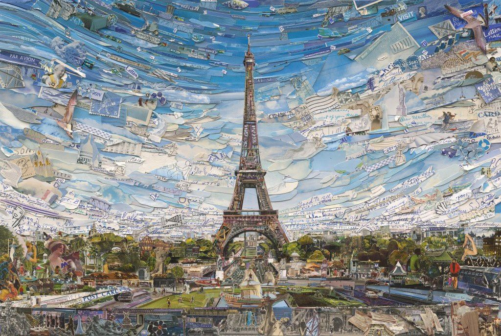 """Tour Eiffel"", 2014 de Vik Muniz - Courtesy Galerie Xippas © Photo Éric Simon"