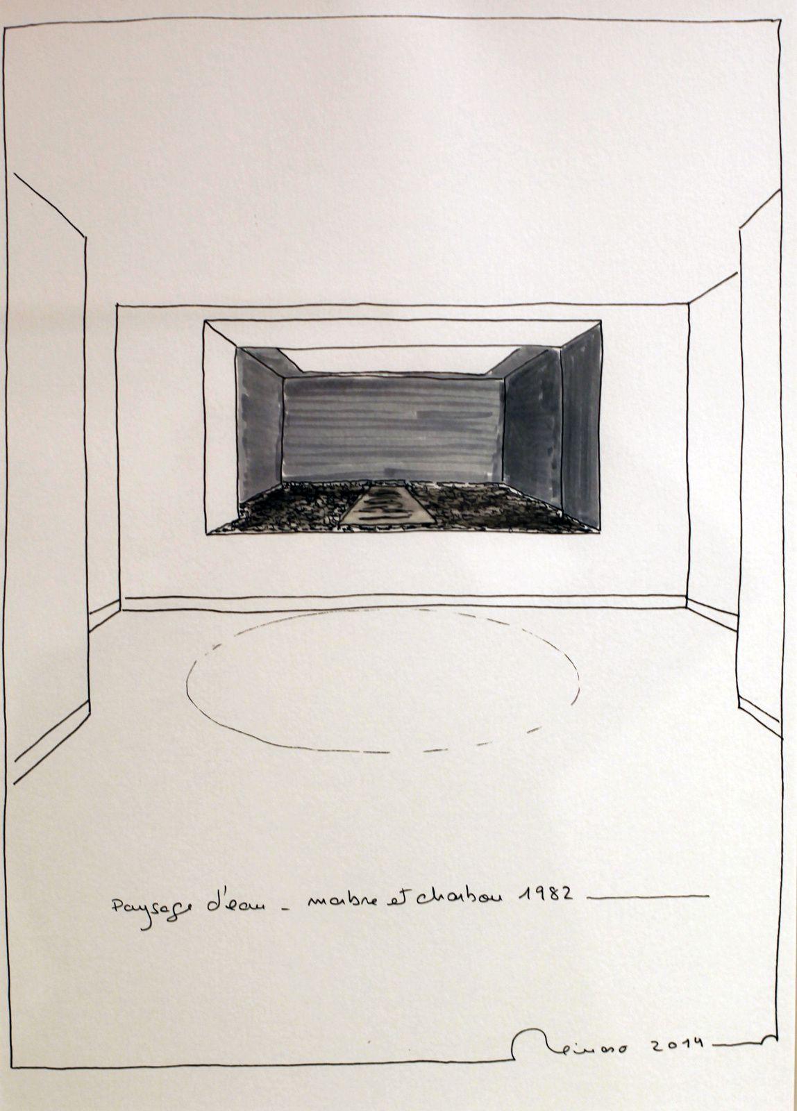 """Dessin préparatoire """"Paysage d'eau"""", 1982 de Pablo Reinoso - Courtesy Reinoso Studio © Photo Éric Simon"""