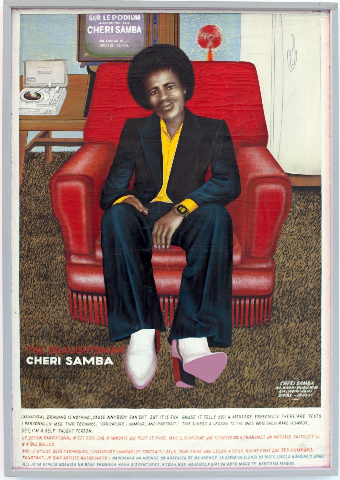 """Draughtsman Cheri SAMBA"", 1981 de Cheri SAMBA © Photo Éric Simon"