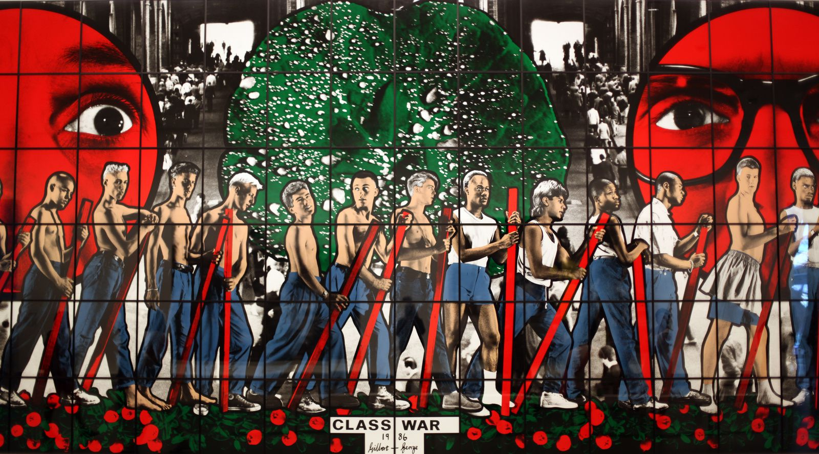 """Class War"", 1986 de Gilbert & George © Photo Éric Simon"