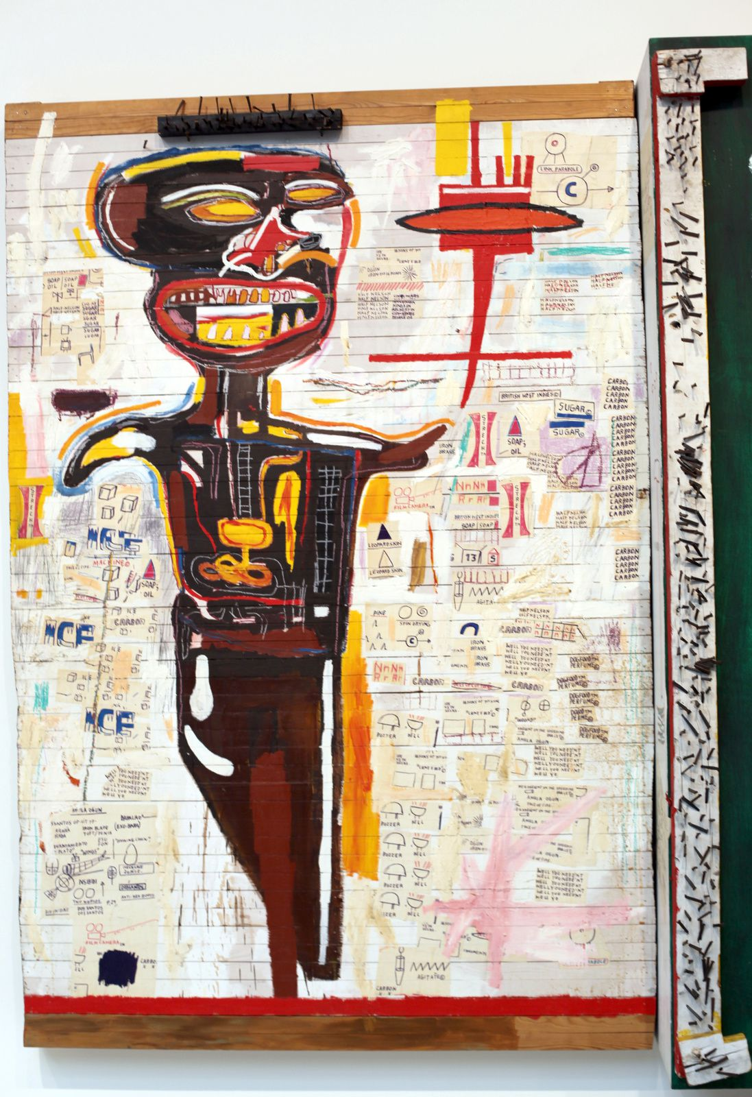 "Détail ""Grillo"", 1984 de Jean Michel Basquiat © Photo Éric Simon"