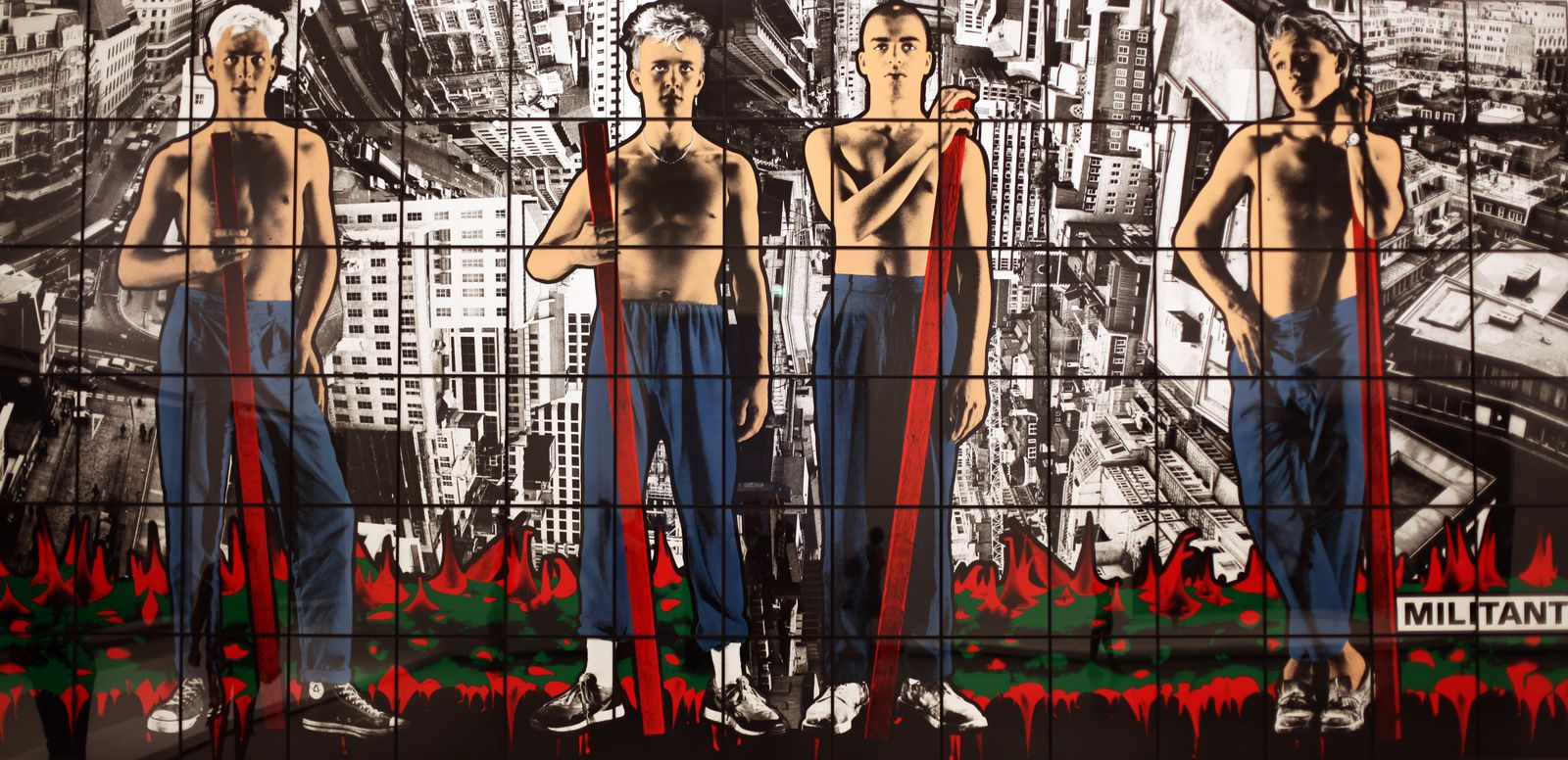"""Militant', 1986 de Gilbert & George © Photo Éric Simon"