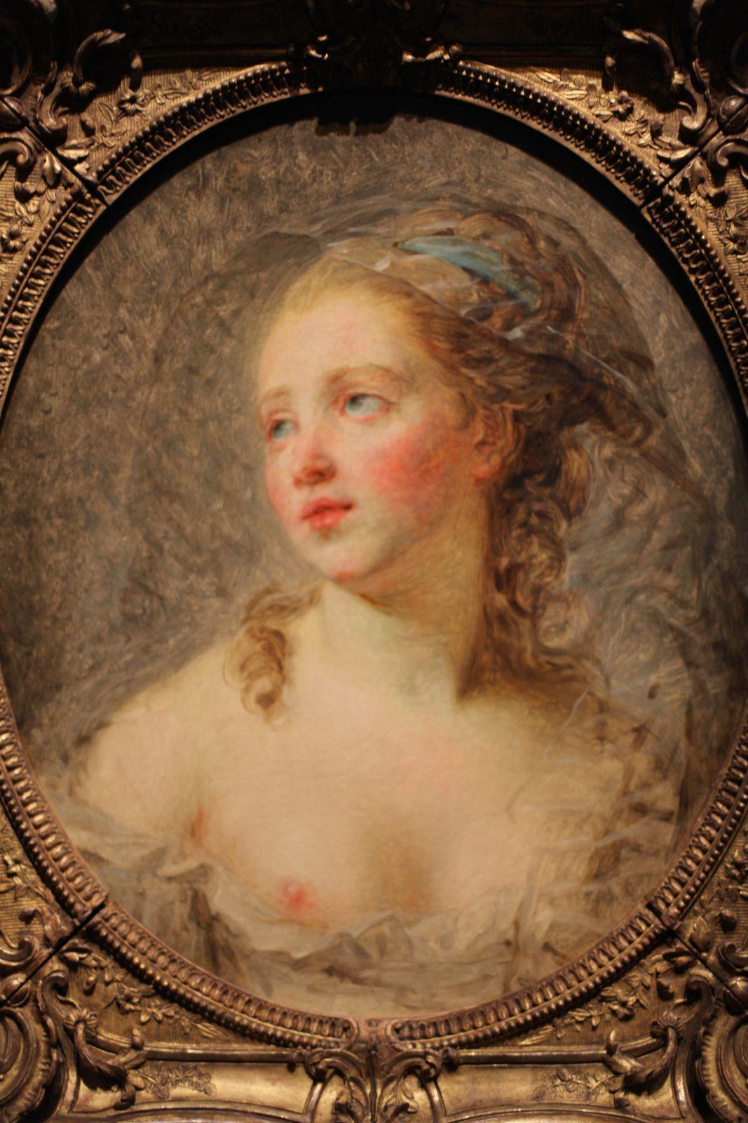 """""""Jeune femme, figure d'expression"""", 1780-1783 d'Elisabeth Louise Vigée Le Brun © Photo Éric Simon"""