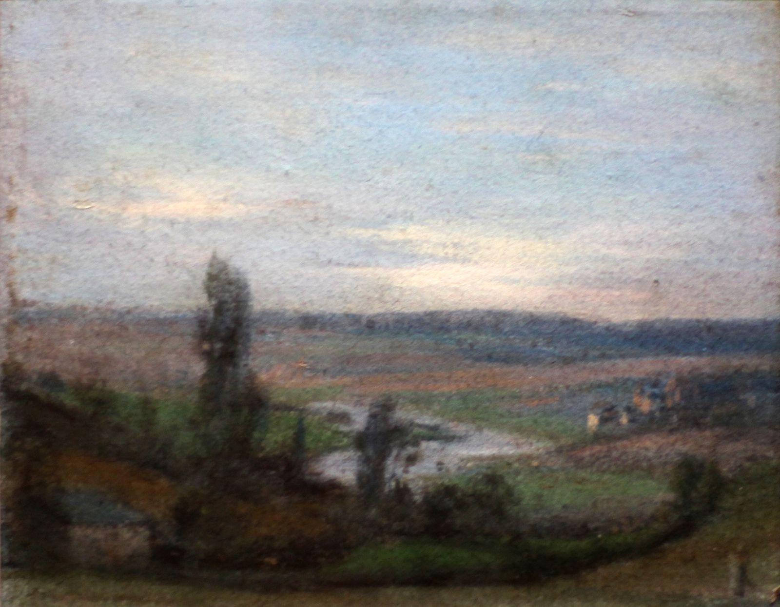 """""""La vallée de la Meuse avec un village et des personnages"""", 1826 d'Elisabeth Louise Vigée Le Brun © Photo Éric Simon"""