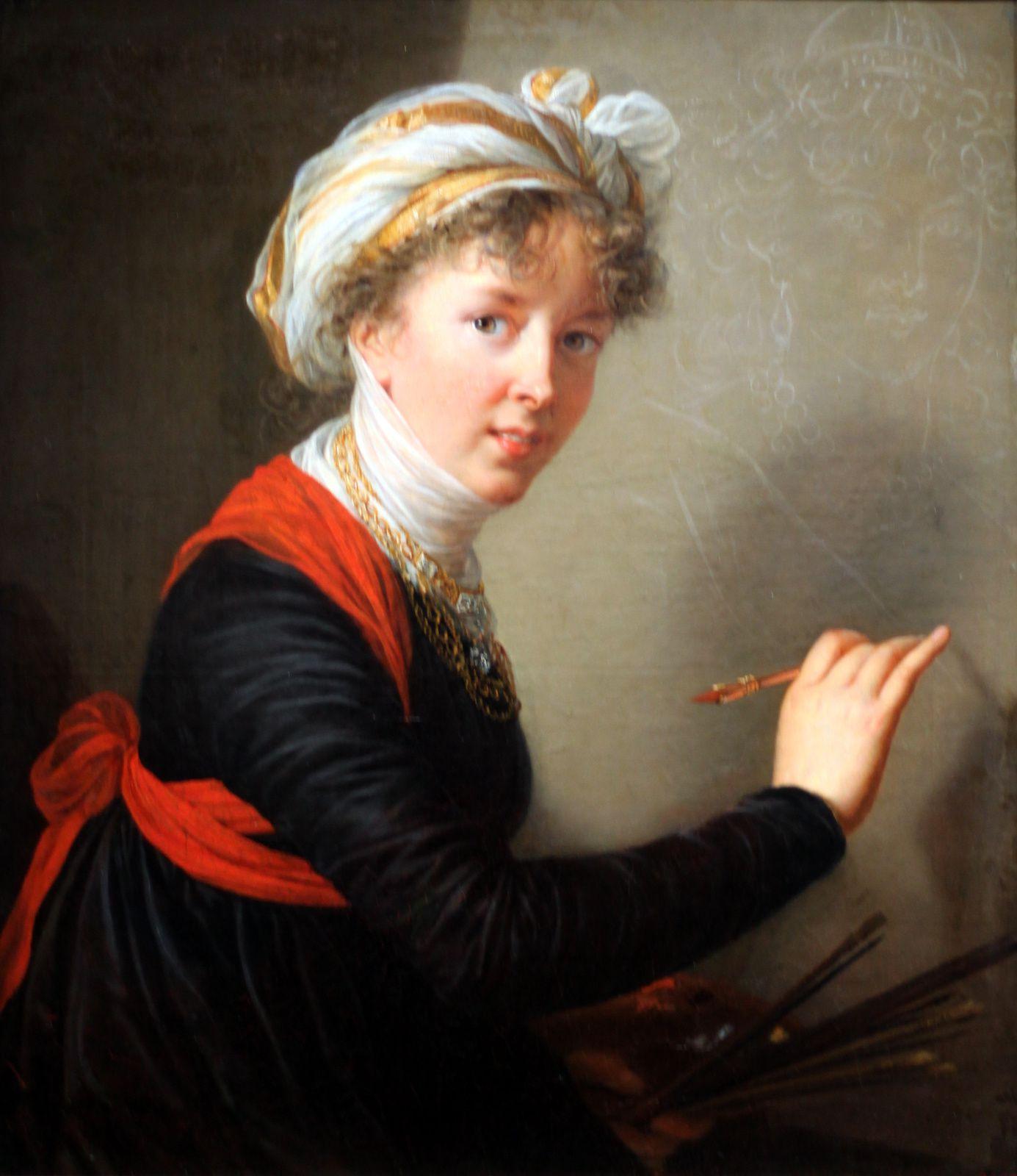 """""""Portrait dit (aux rubans cerise)"""", 1782 d'Elisabeth Louise Vigée Le Brun © Photo Éric Simon"""