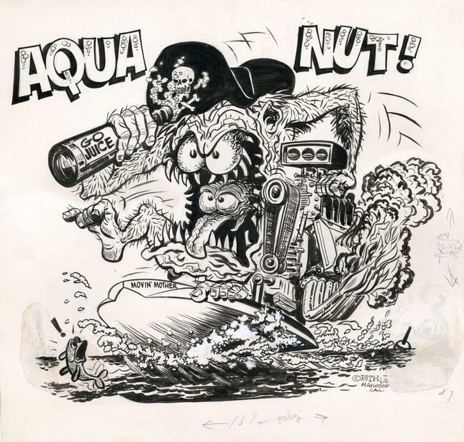 """""""Aqua nut"""" de Ed Roth"""