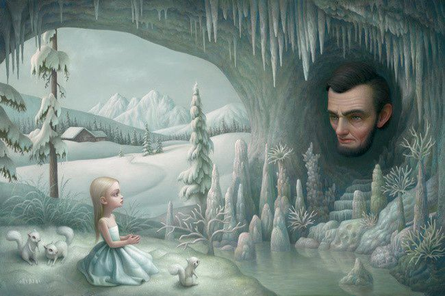 """Grotto og the old Mass"" de Mark Ryden"