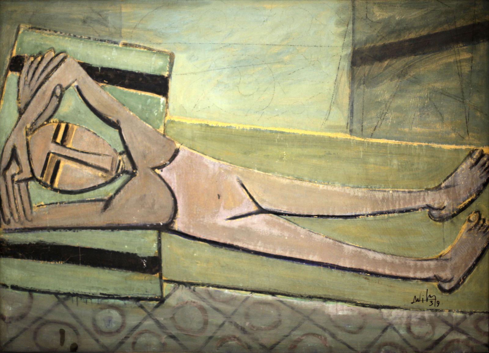 """""""Nu couché"""", 1939 de Wifredo Lam © Photo Éric Simon"""