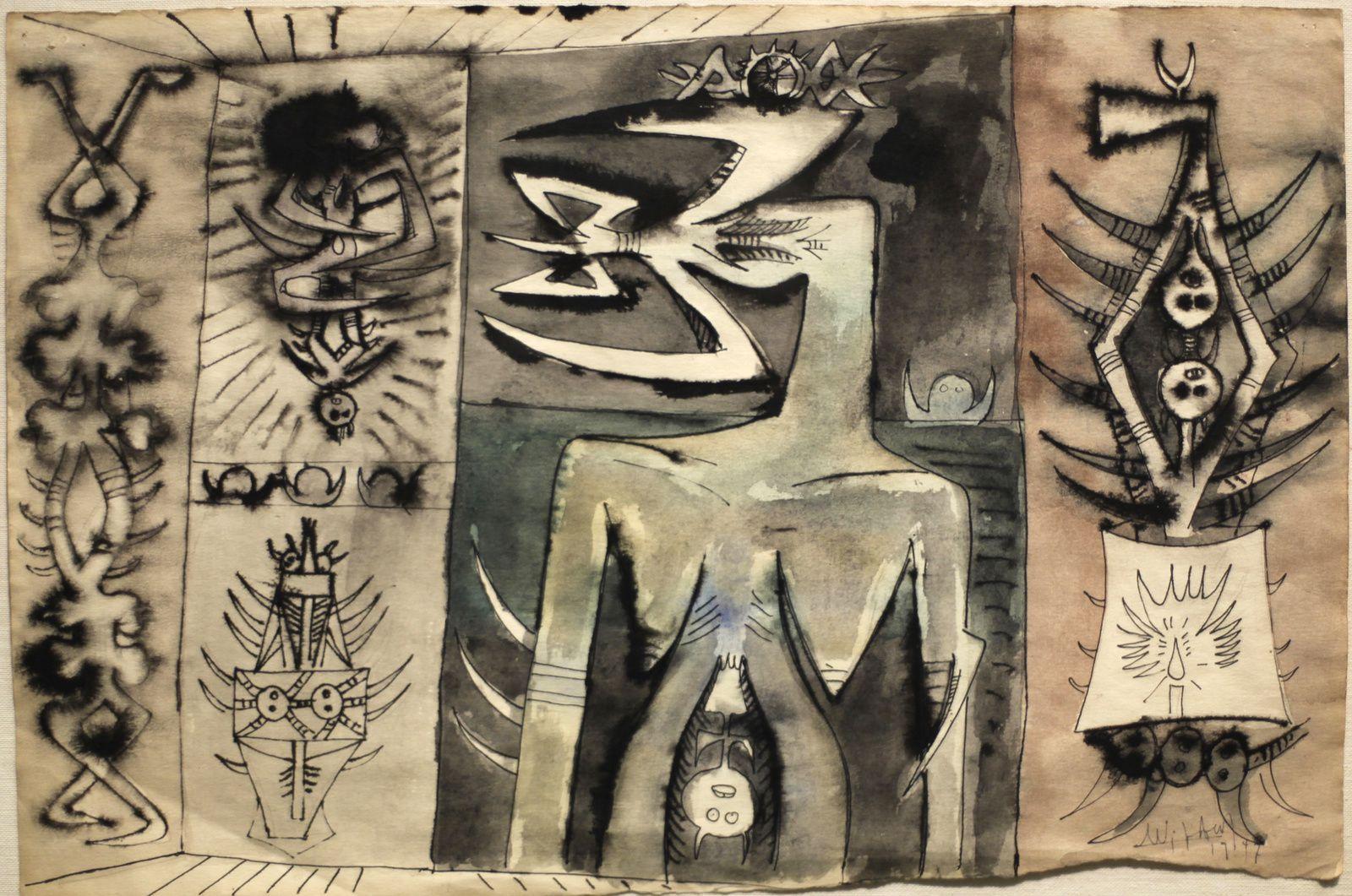 """""""Sans titre"""", 1947 de Wifredo Lam © Photo Éric Simon"""