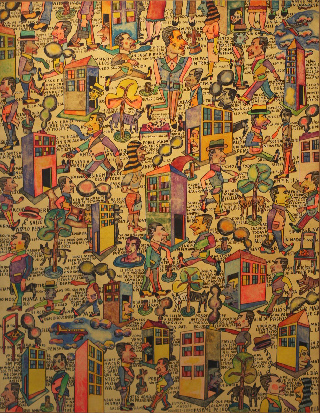 """Todos creimos en Madoff"", 2009 d'Antonio SEGUI. Galerie Laurent Strouk © Photo Éric Simon"