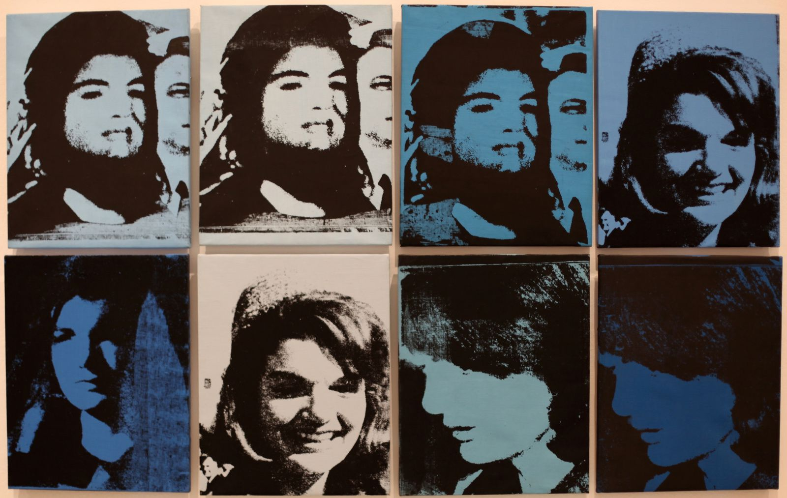 """Jackies (8 variations)"", 1964 d'Andy Warhol © Photo Éric Simon"