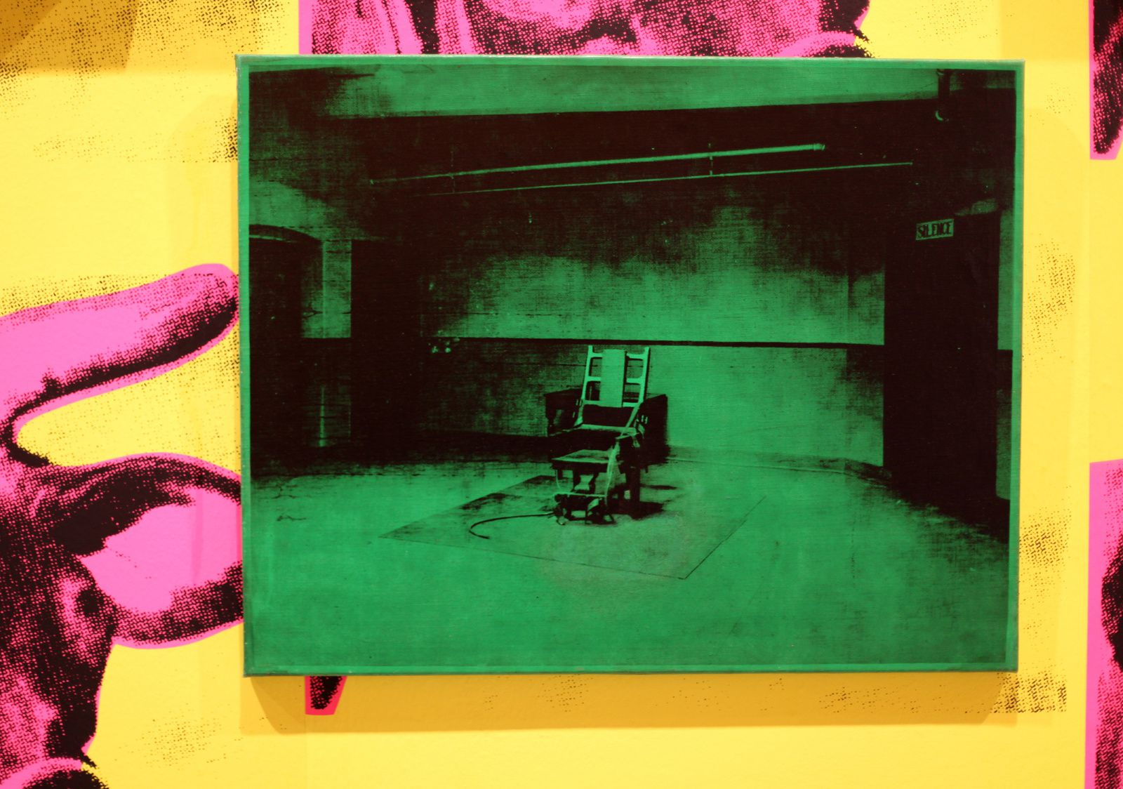 """Electric chair"", 1964 d'Andy Warhol © Photo Éric Simon"