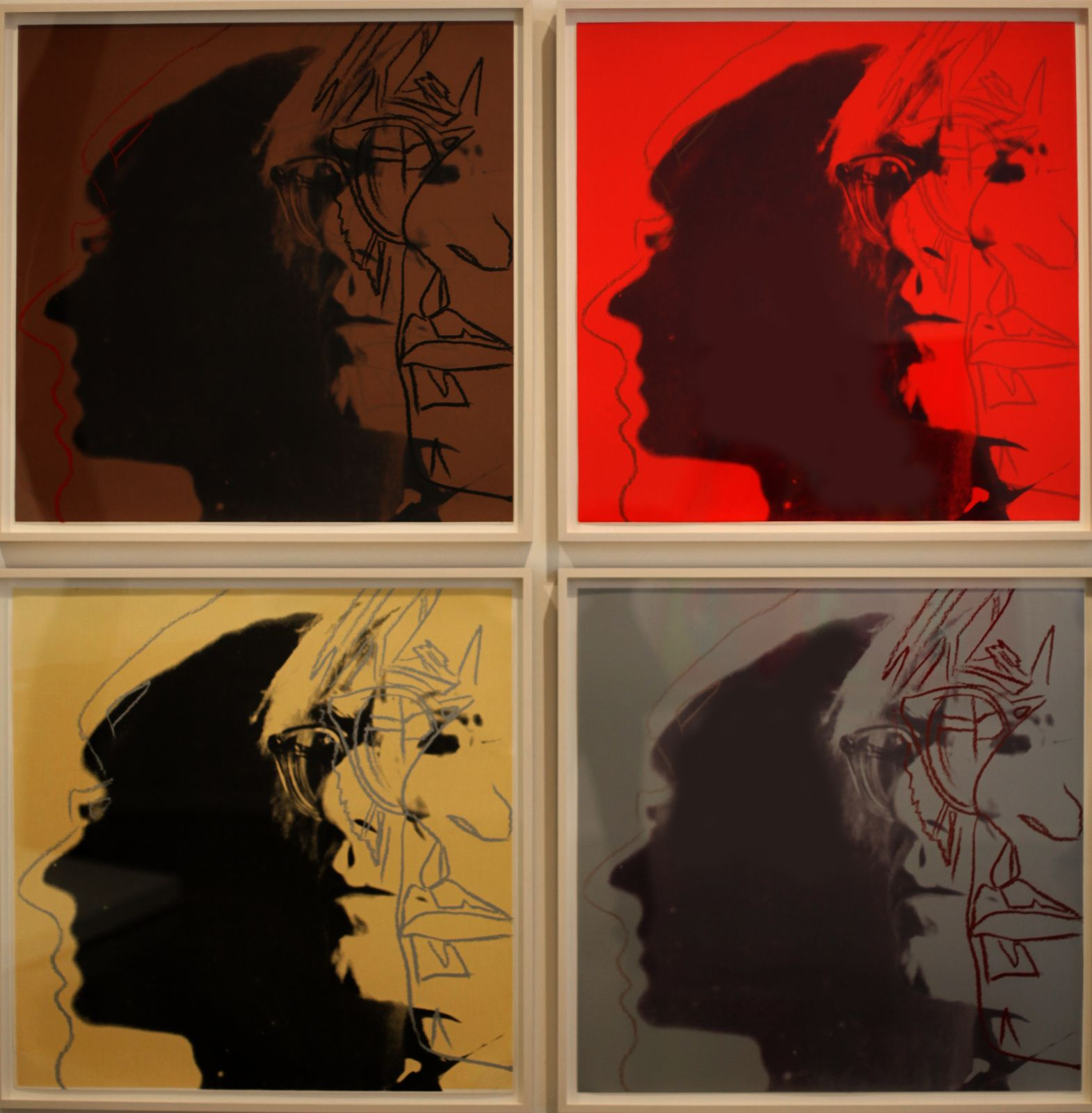 """The Shadow"", 1981 d'Andy Warhol © Photo Éric Simon"