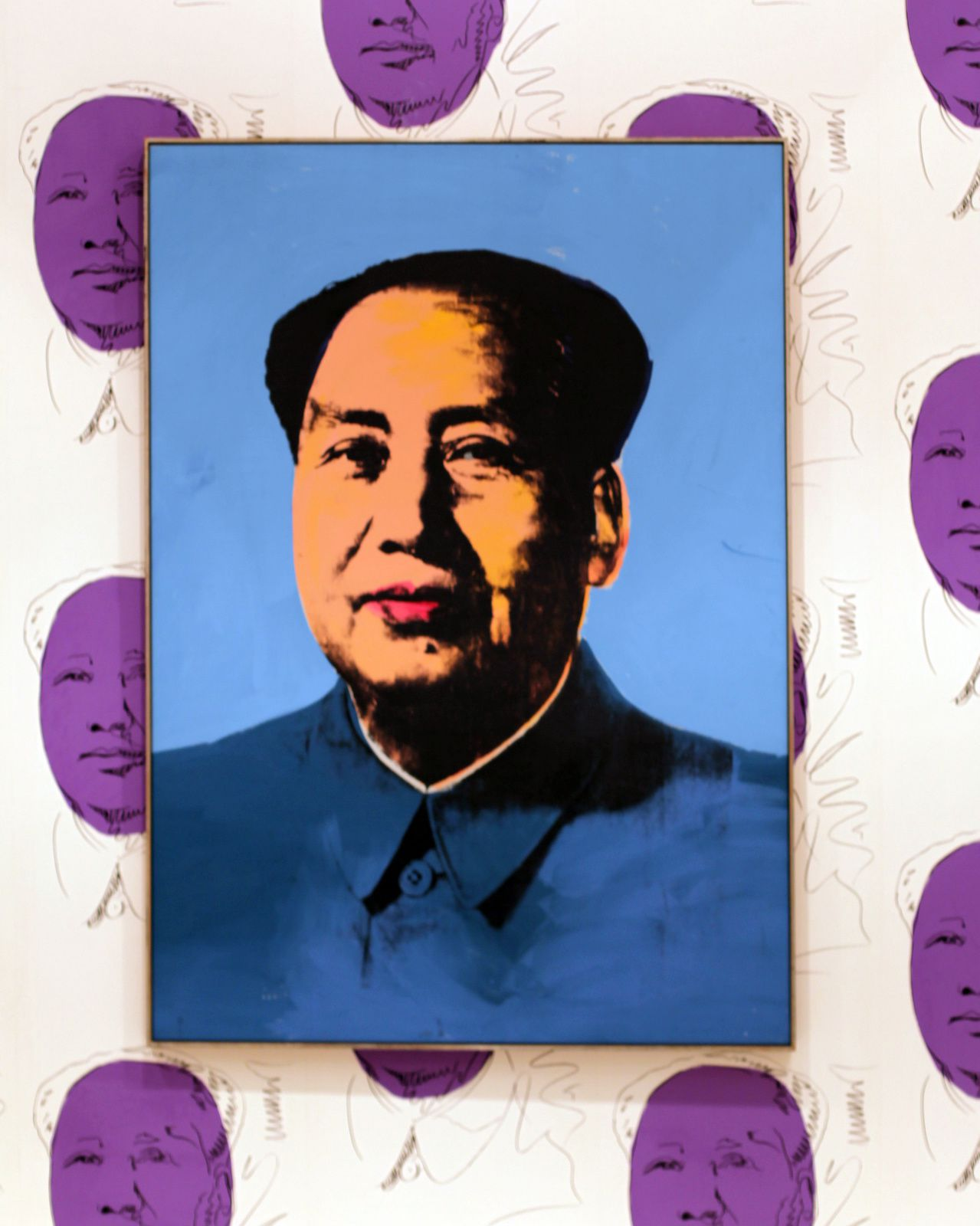 """Mao"", 1972  d'Andy Warhol © Photo Éric Simon"