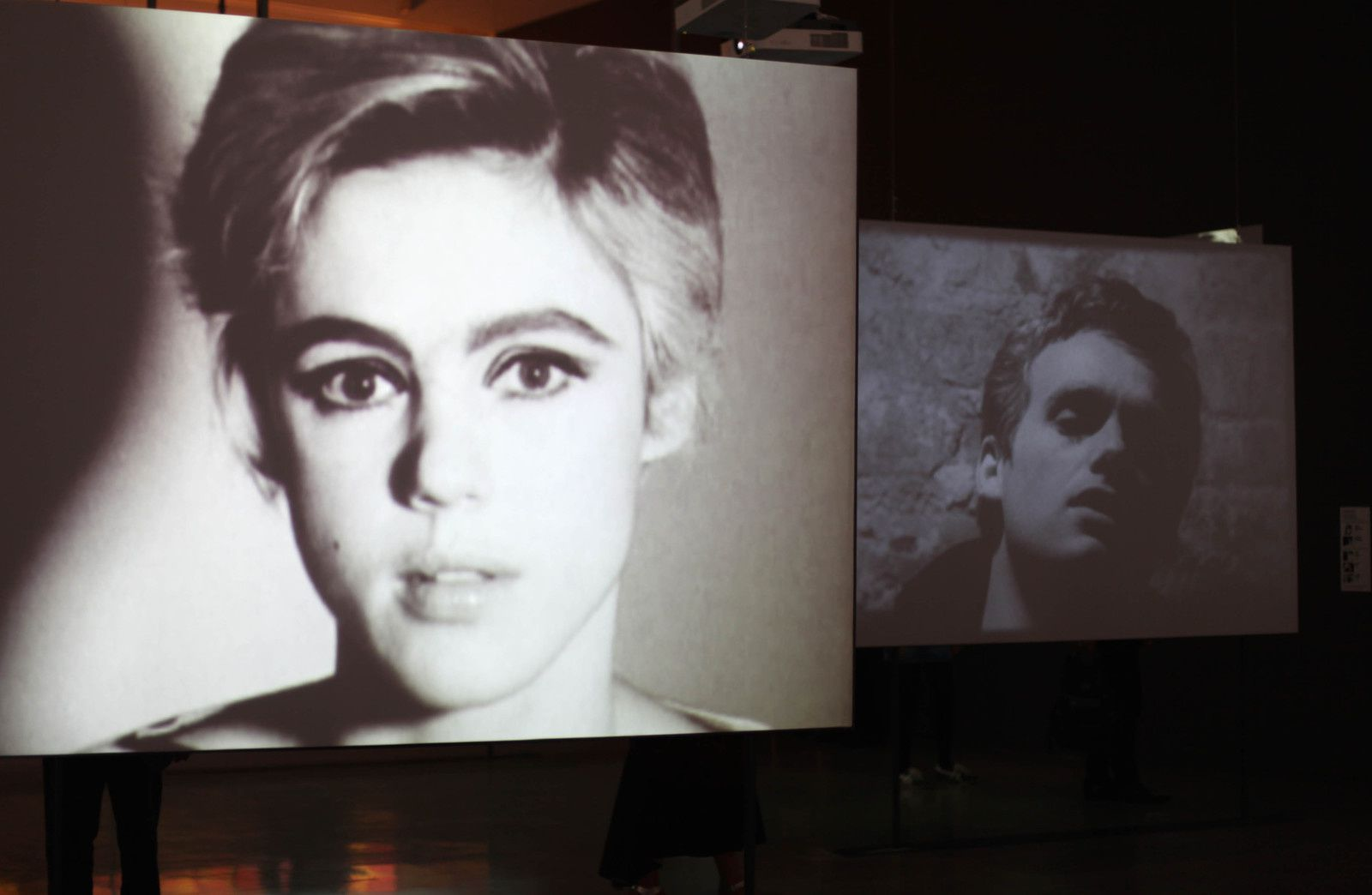 "Projection Film 16mm ""Edie Sedgwick"" 1965 et ""Blow job"", 1964 d'Andy Warhol © Photo Éric Simon"