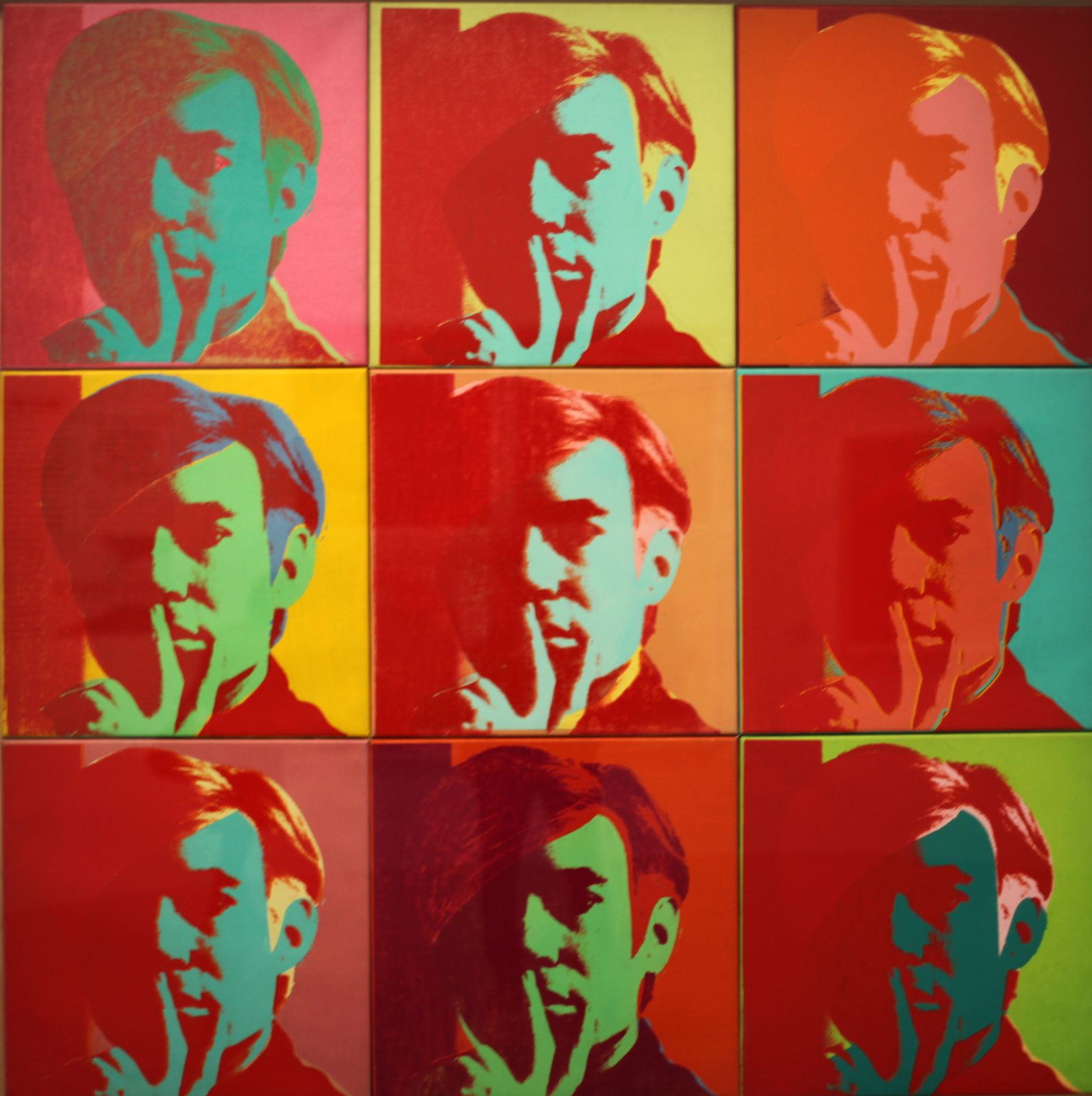 """Self portrait"", 1966 d'Andy Warhol © Photo Éric Simon"