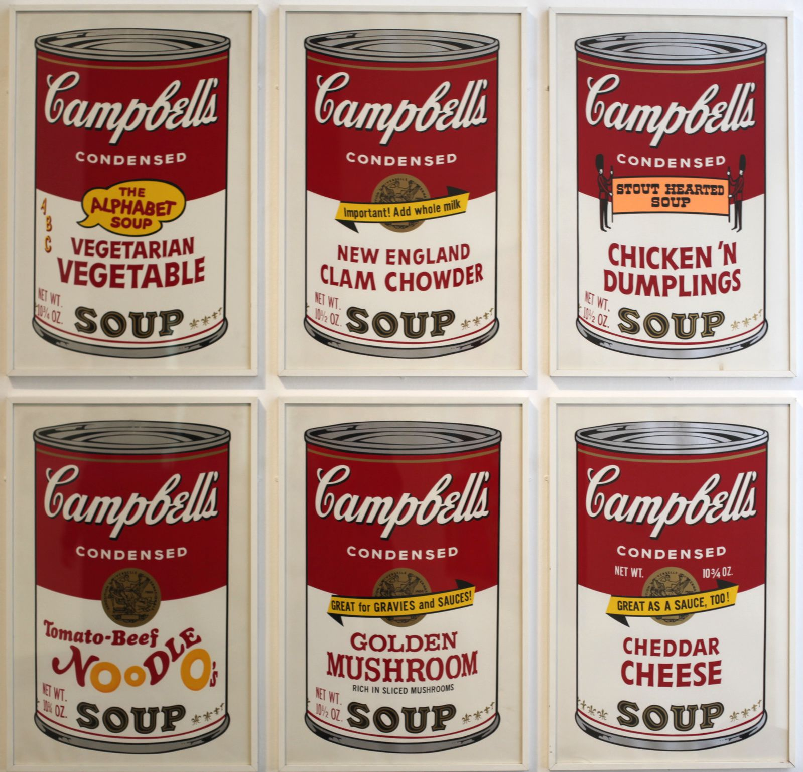 """Campbell's soup II"", 1969 d'Andy Warhol © Photo Éric Simon"