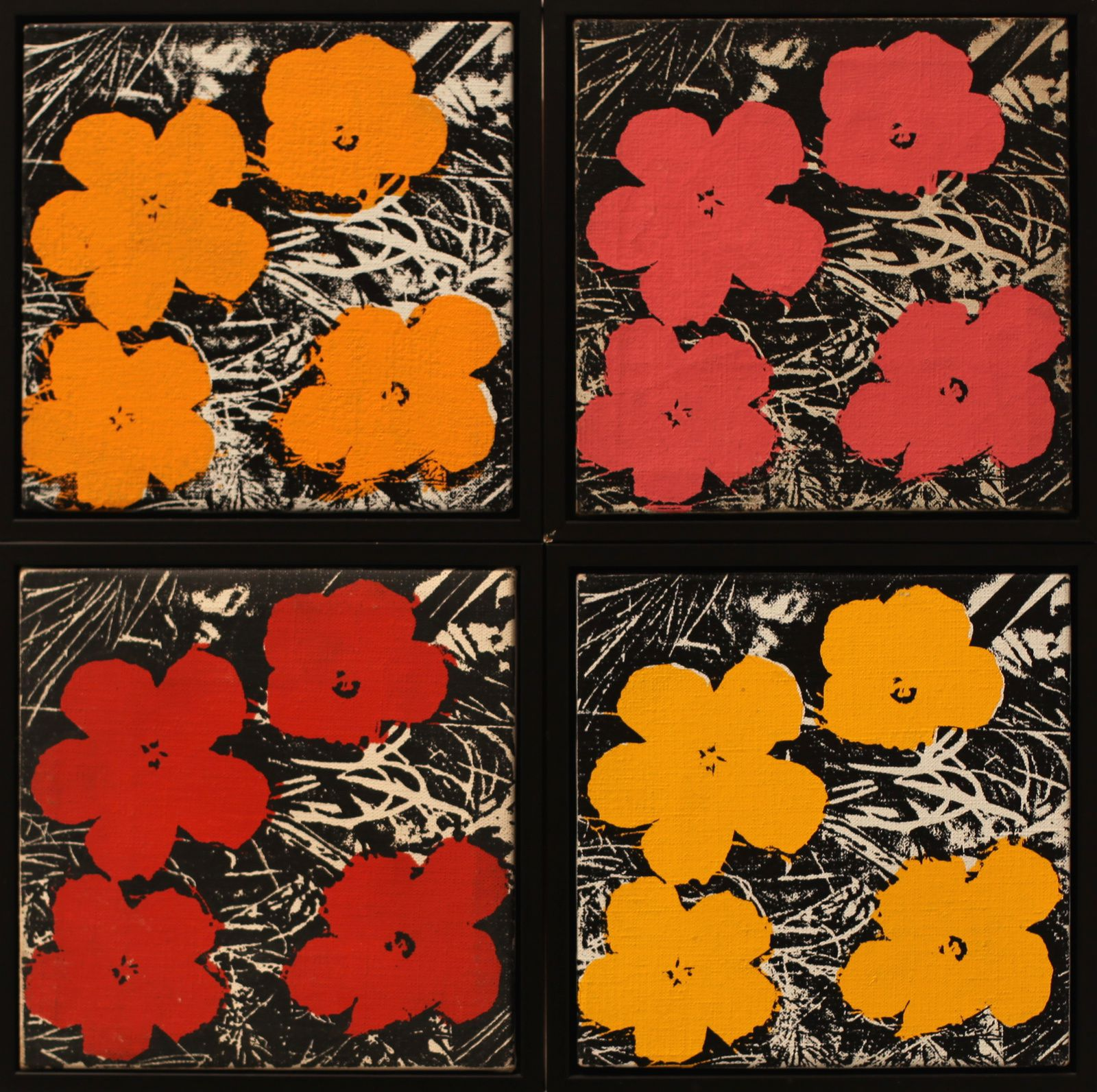 """Flowers"", 1965 d'Andy Warhol © Photo Éric Simon"