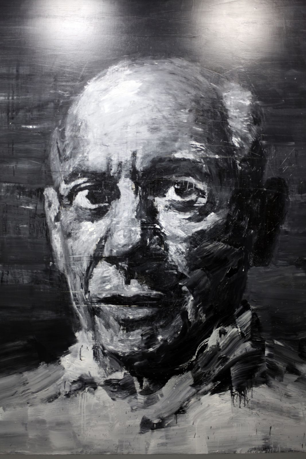 """Portrait de Picasso"", 2009 de Yan Pei-Ming © Photo Éric Simon"