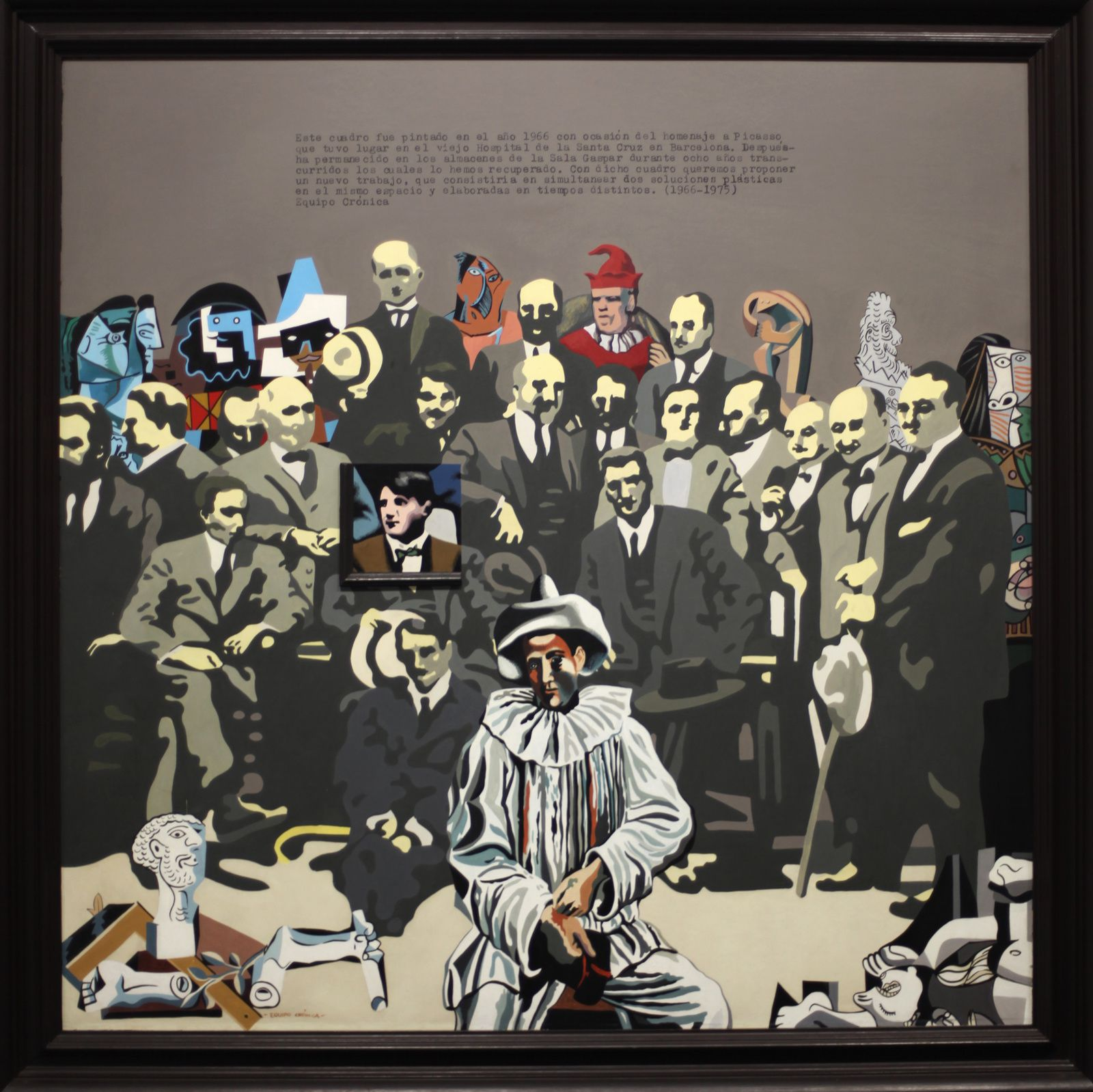 """""""Equipo Cronica, hommage à Picasso, Série voir et faire la peinture"""", 1966-1975 © Photo Éric Simon"""