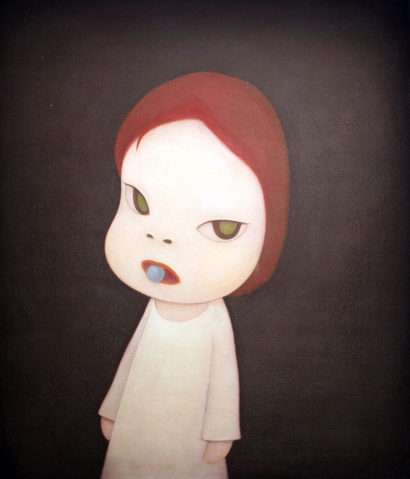 """Candy blue night"", 2001 de Yoshitomo NARA © Photo Éric Simon"