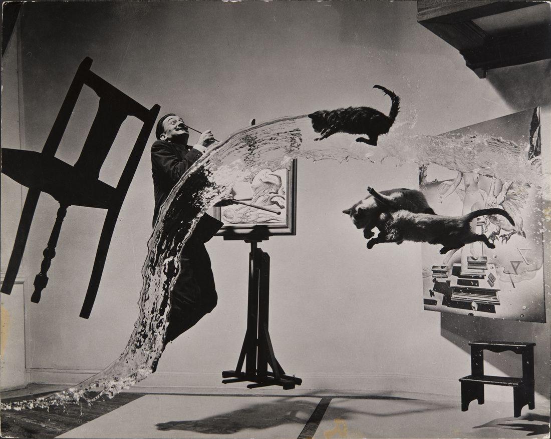 """""""Dalí Atomicus"""", 1948 de Philippe Halsman"""