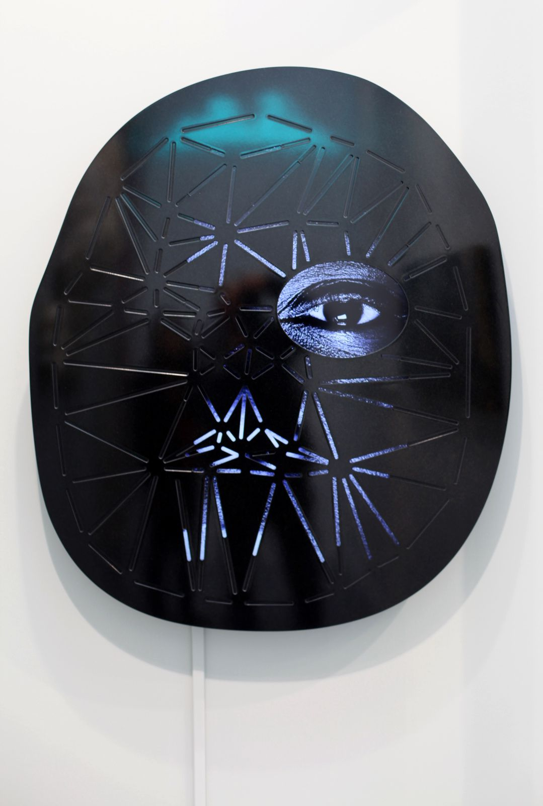 "Media Player ""VAL"", 2015 de Tony OURSLER © Photo Éric Simon"