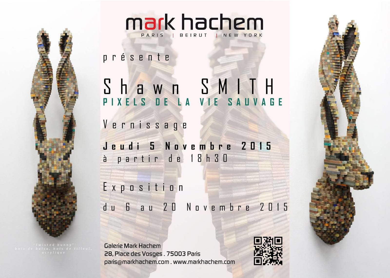 Expo Solo Show: Shawn SMITH - &quot&#x3B;PIXELS DE LA VIE du SAUVAGE&quot&#x3B;