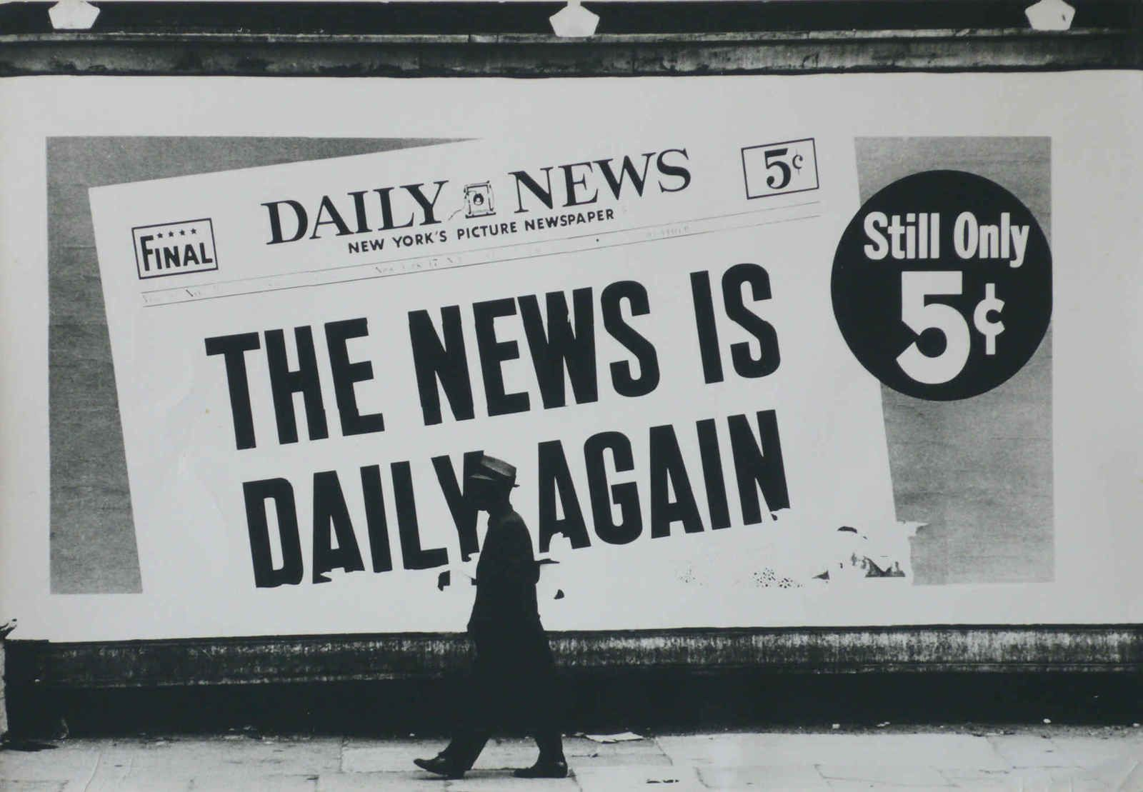 """Daily News, California"", 1964 de Dennis Hopper"