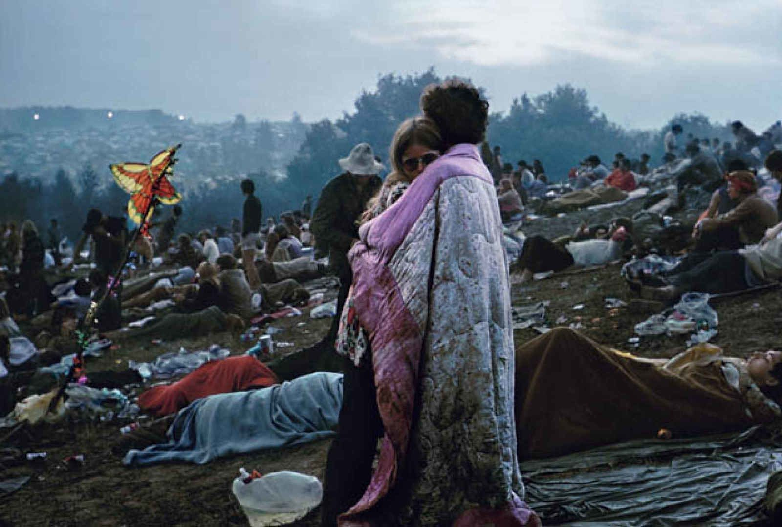 """Woodstock, The Ercolines"", 1969 de Burk Uzzle"