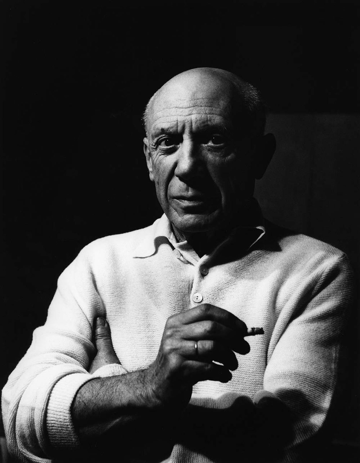 """""""Picasso, Cannes"""", 1956 de Lucien Clergue"""