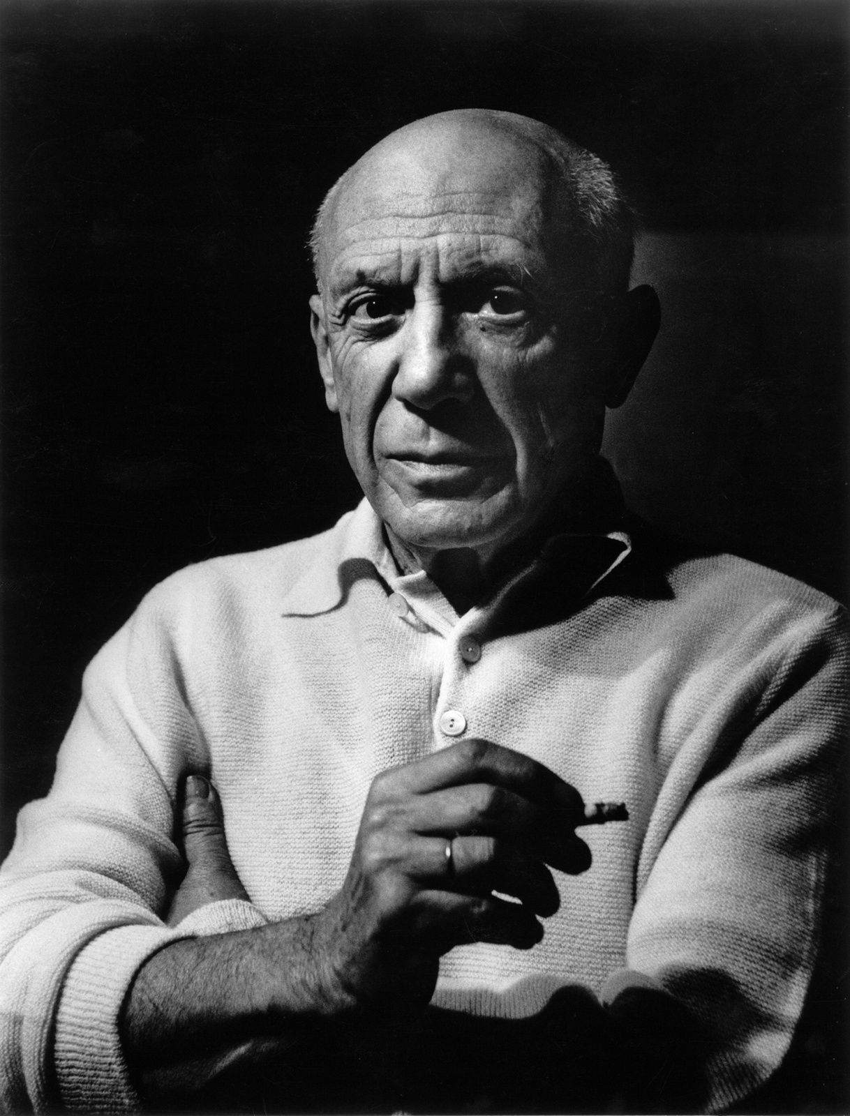 """""""Picasso à la cigarette"""" de Lucien Clergue - Courtesy Galerie Patrice Trigano"""