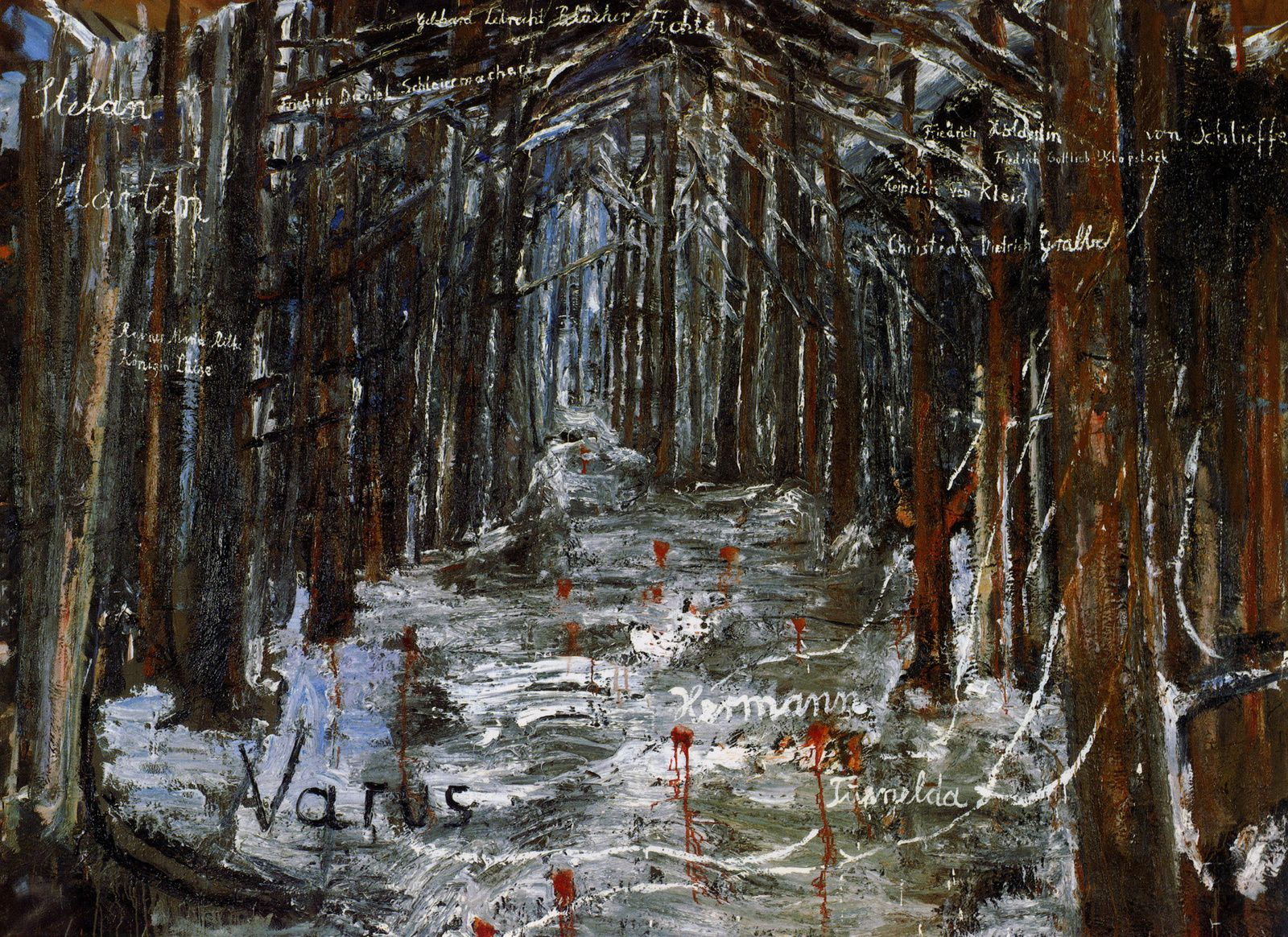 """Varus"", 1976 de Anselm Kiefer - Collection Van Abbemuseum, Eindhoven"