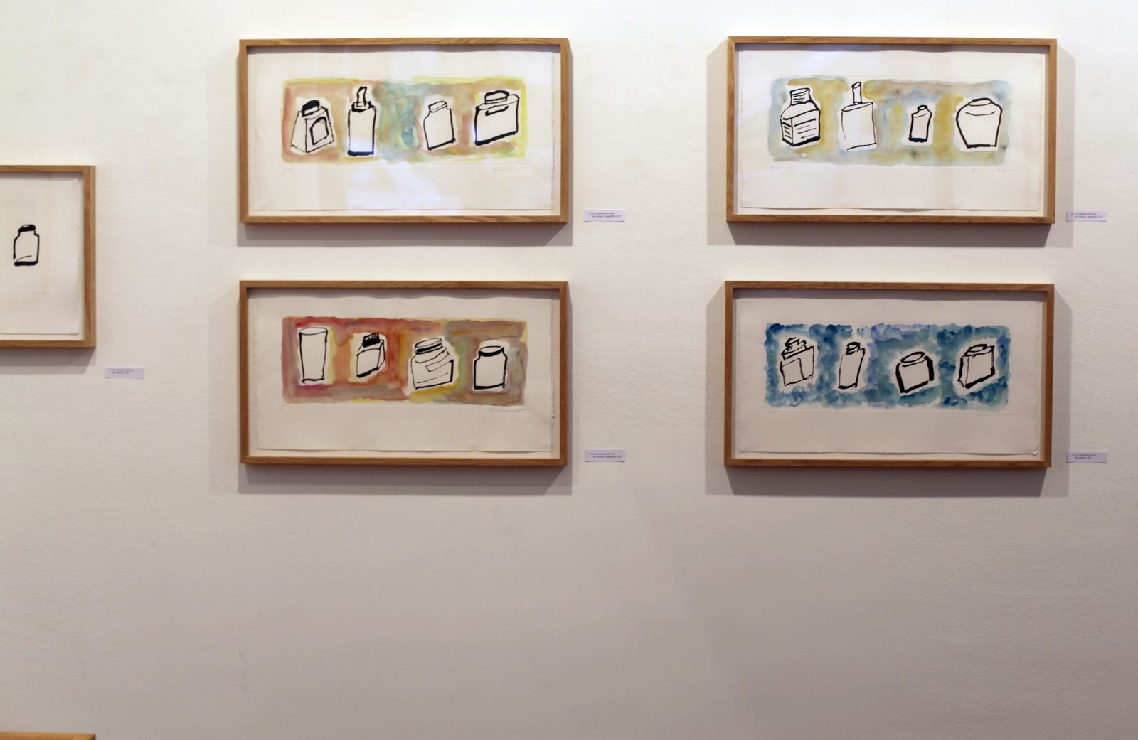 "Série ""La commedia dell'arte dei calamai"", 2015 d'Etel Adnan - Courtesy Galerie Lelong © Photo Éric Simon"