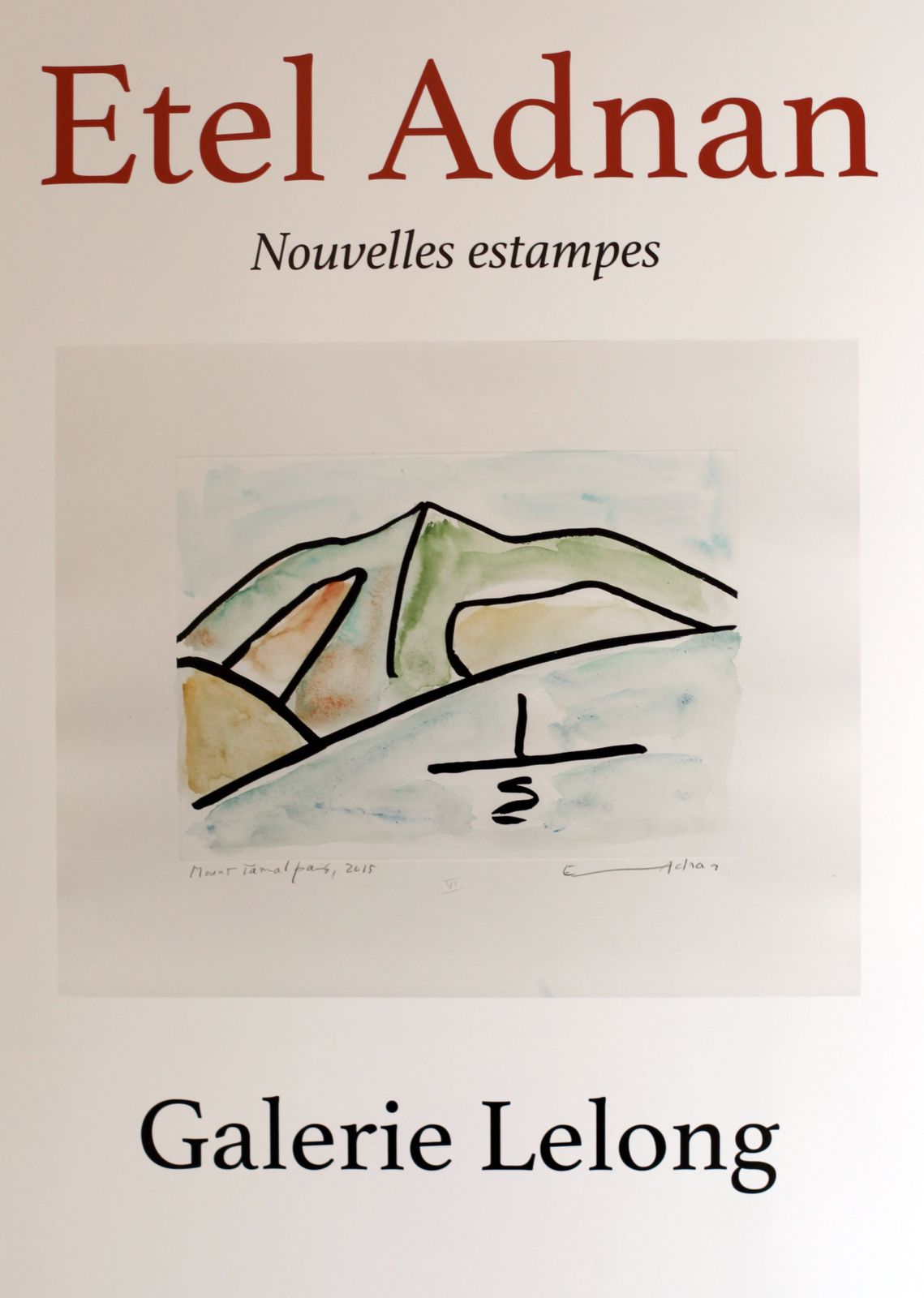 "Expo Peinture Contemporaine: Etel ADNAN ""New Prints """