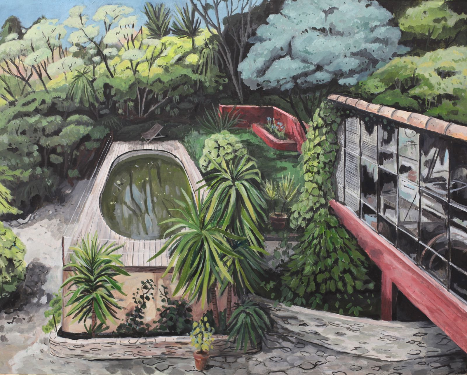 """Le jardin de Bruno"", 2015 d'Antoine Corbineau - Courtesy Galerie LJ © Photo Éric Simon"