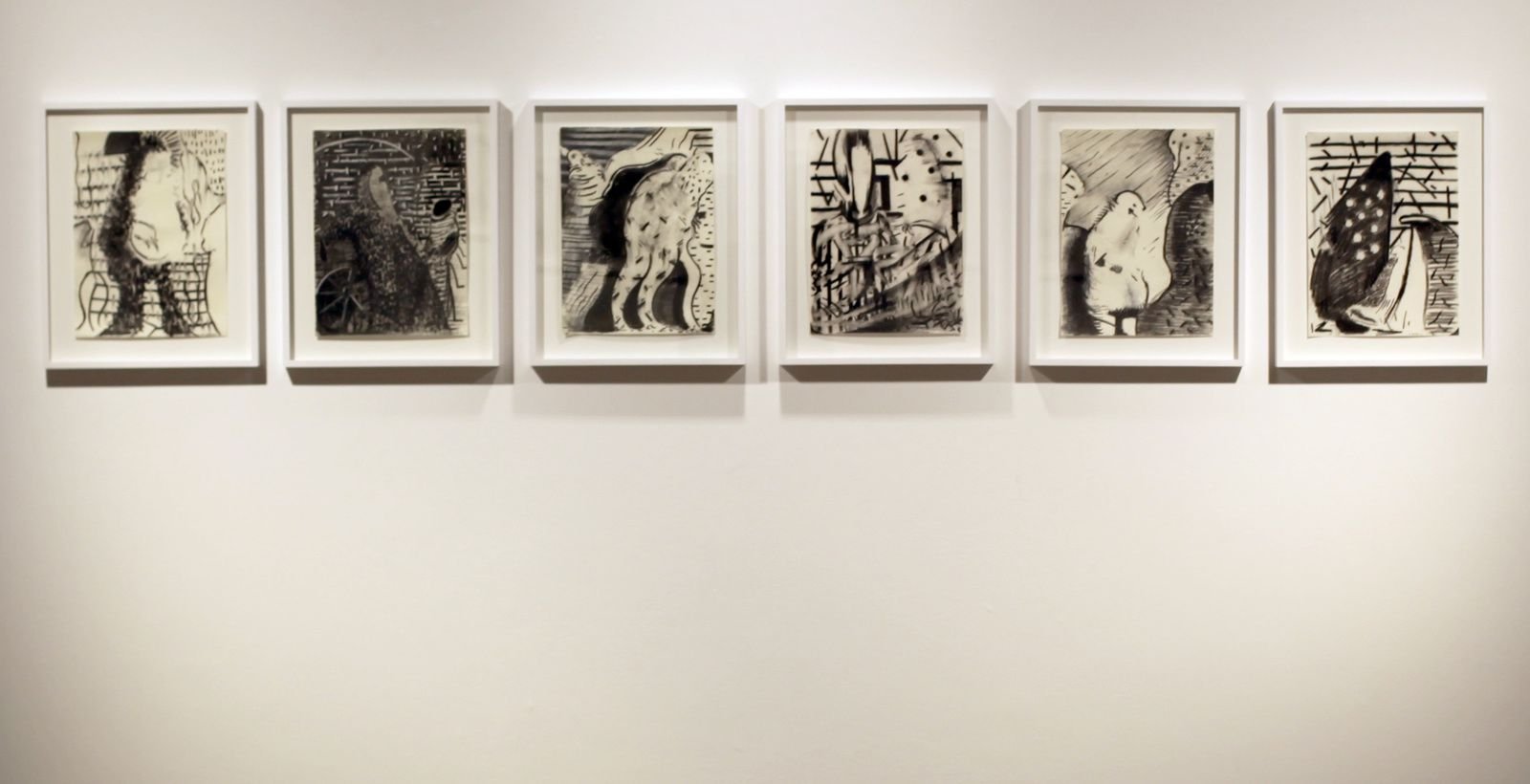 Vue de l'exposition d'Ali Banisadr - Courtesy Galerie Thaddaeus Ropac Marais © Photo Éric Simon
