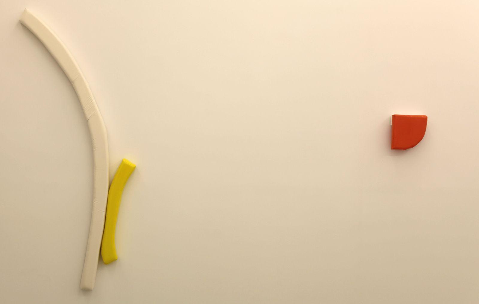 """""""Pull"""" et """"Blossom"""", 2015 de Justin Adian  - Courtesy Galerie Almine Rech Paris  © Photo Éric Simon"""