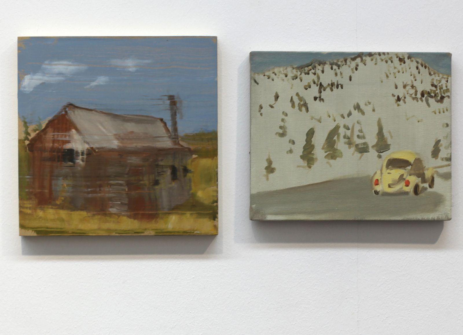 """""""Hut"""" et """"bettle"""",  2015 de Gideon Rubin - Courtesy Galerie Karsten Greve © Photo Éric Simon"""