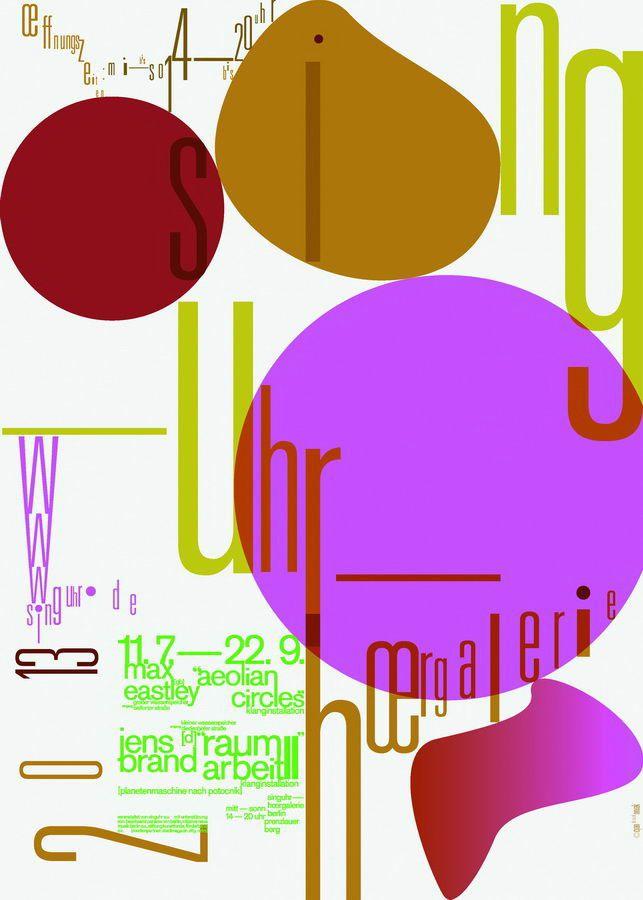 Cyan, affiche pour la galerie Singuhr Sound Art de Berlin, 2013