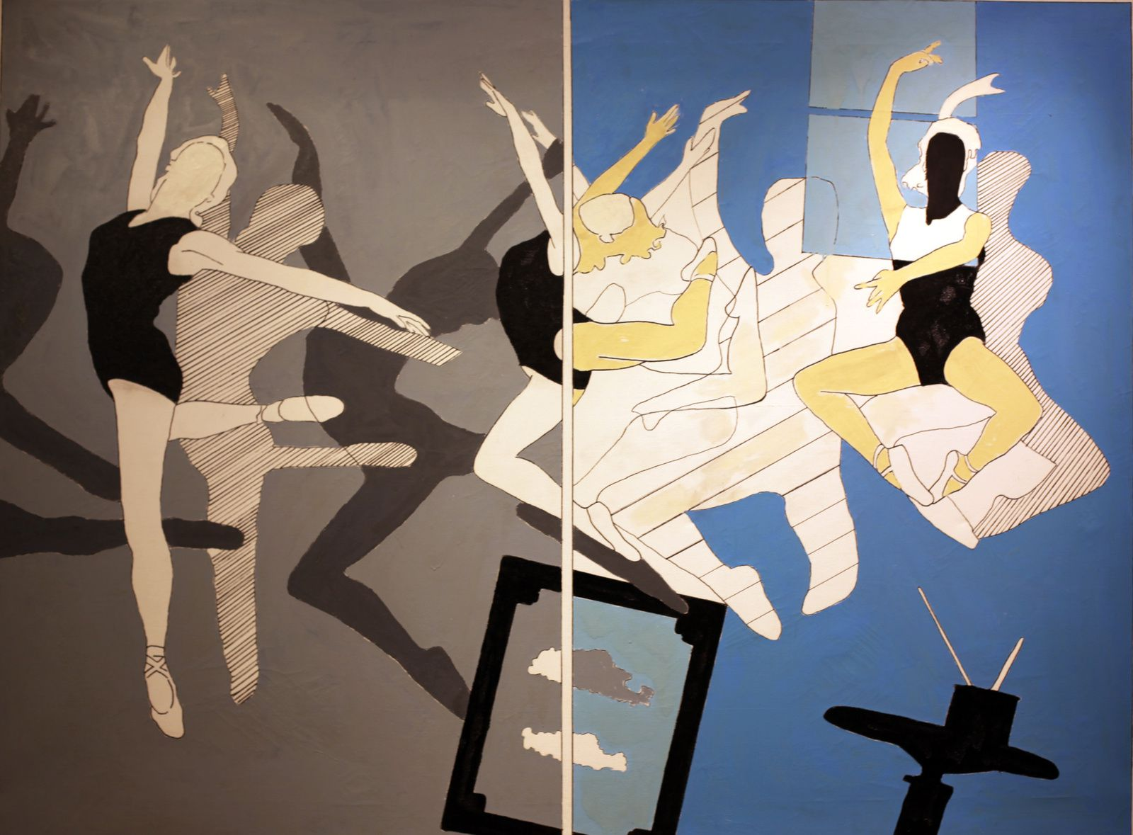 """Sequenza di balletto"", 1965 de Tano Festa - Courtesy Galerie Tornabuoni Art Galerie © Photo Éric Simon"