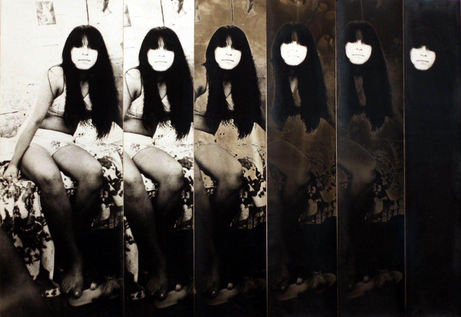 """Série """"Prostitutas, 1970-1972"""" Collage de Fernell Franco - Courtesy Fondation Cartier Paris © Photo Éric Simon"""