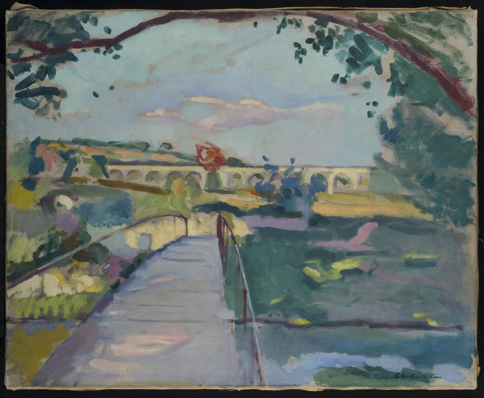 Charles Camoin (1879-1965), Les bords de l'Arc, La Passerelle, 1906 – Photo Patrick Goetelen - ADAGP, Paris 2016