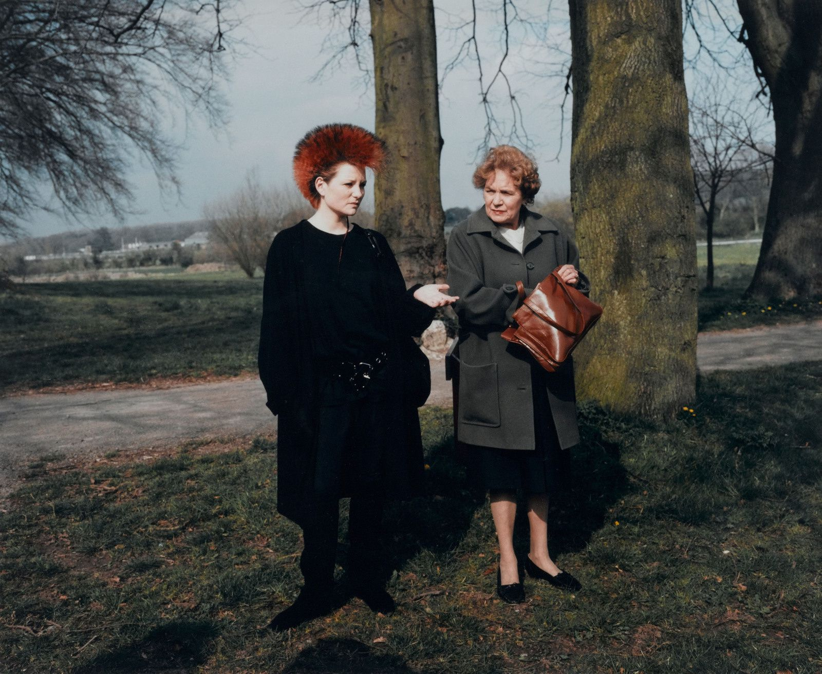 """The cost of living - Punk with her mother"", 1986 de Martin Parr - Courtesy Centre Pompidou"