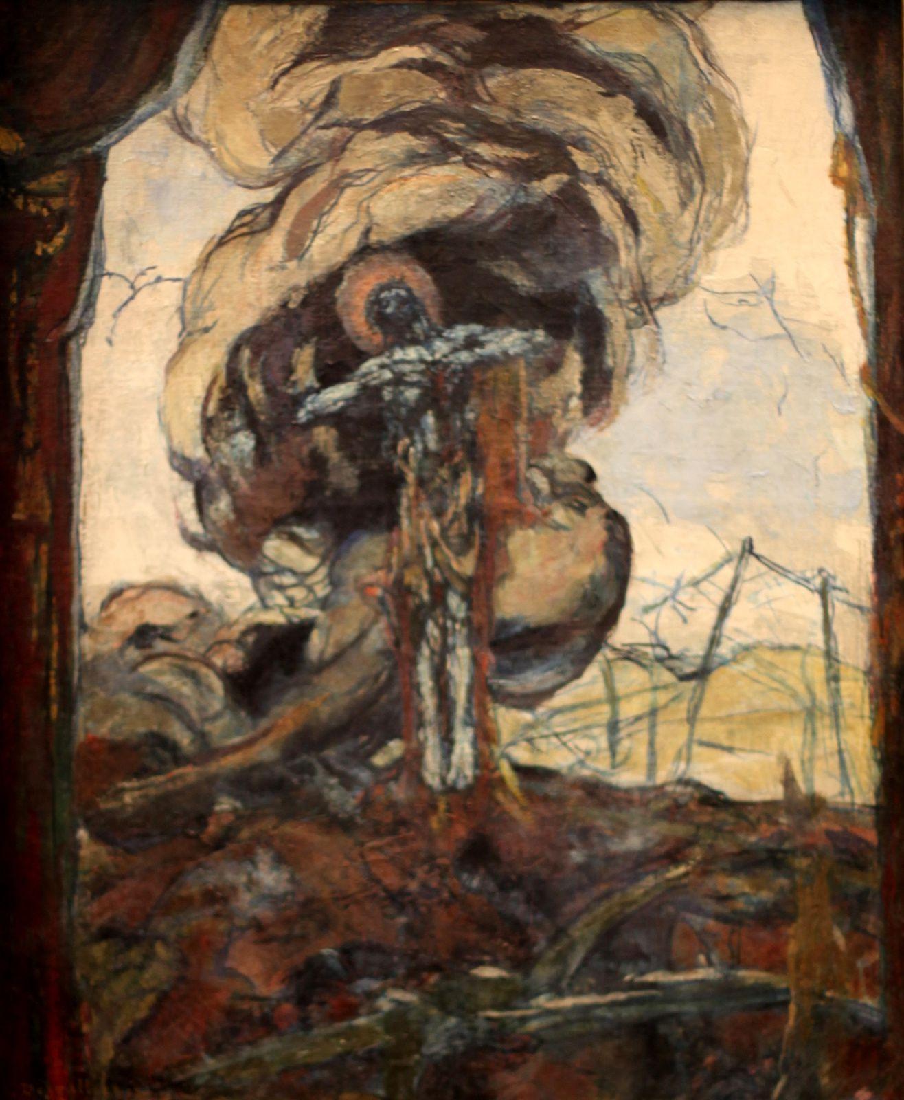 """""""Sacré coeur dans un éclatement"""", 1920  de George Desvallières © Photo Éric Simon"""