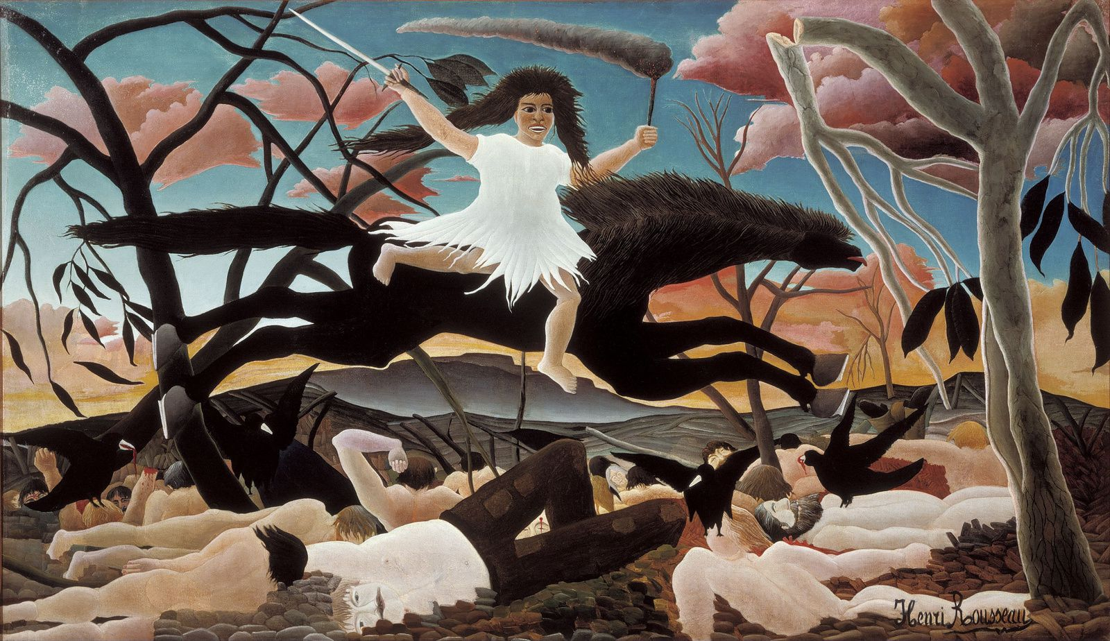 """""""La guerre"""", 1894 d'Henri Rousseau"""