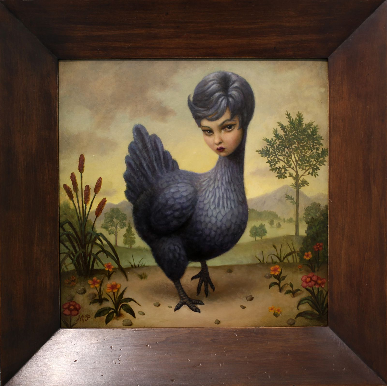 """Chicken lady"", 2015 de Marion Peck - Courtesy Galerie Magda Danysz © Photo Éric Simon"