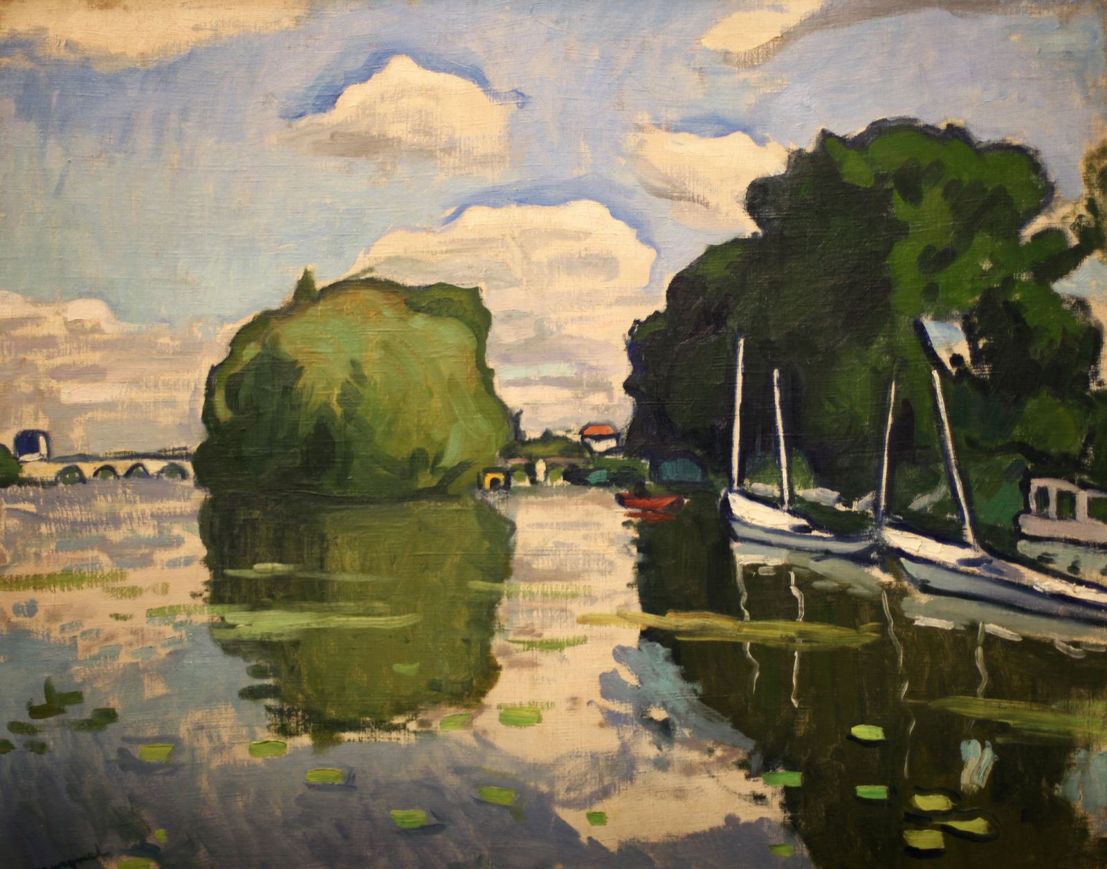 """La Seine à Poissy"", 1908 d'Albert Marquet © Photo Éric Simon"
